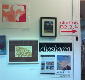 chashama Open Studio, entrance wall