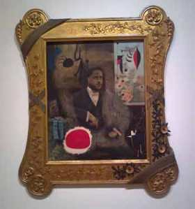 Joan Miro Portrait of a Man in a Late Nineteenth-Century Frame
